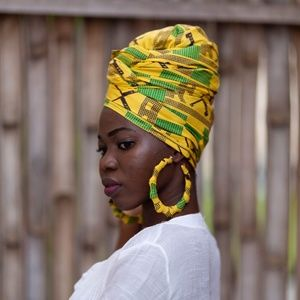 EARRINGS ONLY: XLarge Africa Ankara Earrings -ALGY